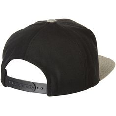 BRIXTON RIFT SNAPBACK CAP BLACK HEATHER GREY ($50) ❤ liked on Polyvore featuring accessories, hats, snapback hats, brixton hats, brixton, caps hats and cap snapback