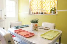 Yellow retro kitchen