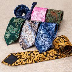 Cool paisley tie set ,men's tie,cool tie Paisley Tie, Cool Ties, Tailored Suits, Tie Set, Tie Knots, Cool Stuff, Beautiful, Tie Dye Outfits, Ties