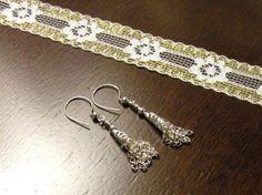 Silver Filigree Tassel Earrings by TriannasTreasures