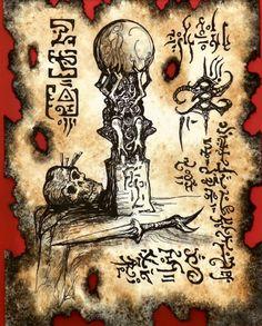 Sorcerer& Work by MrZarono on DeviantArt Necronomicon Lovecraft, Lovecraft Cthulhu, Fantasy Rpg, Dark Fantasy, Dungeons And Dragons, Dcc Rpg, Dark Books, Lovecraftian Horror, Satanic Art