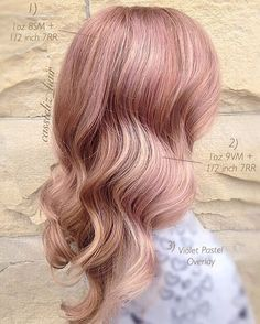 Repost from @cassieliz_hair - One of the favorite Rosè color palettes . . . 8SM + 7RR for a deeper variation and shadow of rose. . 9VM + 7RR pearlescent rose on the ends. . Violet Pastel overlay to cool off the palette . . . #kenracolor #kreate #rosegold #rosegoldhair #rosehair #colormelt #hairgoals #hairbrained #pinkhair #blushhair #mermaidhair #kenra #kenraprofessional #education