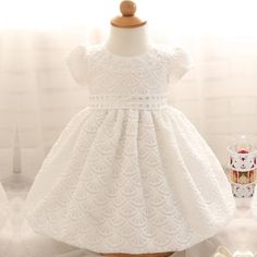 1e3289b76 Cute Newborn Dress White For Infant Baby Christening Gown Toddler Girls  White Lace Baptism Newborn Dress Toddler Chiffon Dresses