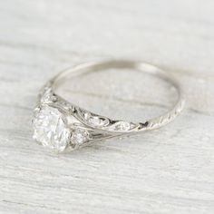 1.22 Carat Edwardian Engagement Ring | Erstwhile Jewelry Co.