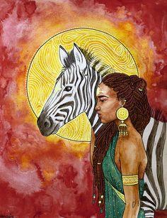 Black Women Art!, solcreative: Zebra Guide by Annelie Solis ...