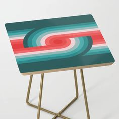 Retro Wheels Side Table by Round Table Top, Wheels, Retro, Prints, Furniture, Home Decor, Decoration Home, Room Decor, Printed