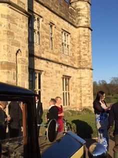 Rolls-Royce in front of the #Castle