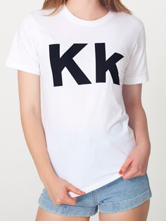 American Apparel - Unisex Helvetica Alphabet T-Shirt