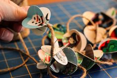Recycle Christmas cards into tree garland | Make Today Creative