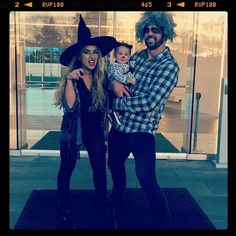 The Decker family Jesse James Decker, Eric & Jessie, Jessica James, Eric Decker, Halloween 2014, Family Costumes, Dress Up, Hipster, Singer