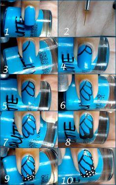 decoracion-de-unas-paso-a-paso-2014-color-azul-decoración-negro