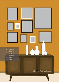 8 ideas to arrange pictures on the wall