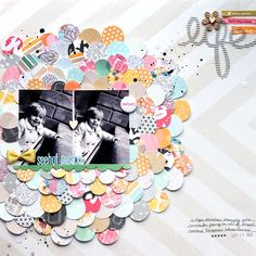 SEEHOF+PALACE+by+Paige+Evans+by+PaigeEvans+at+@Studio_Calico holy cow! I am loving all the paper circles!