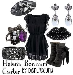 HP: Helena Bonham Carter inspired outfit by Disneybound at:  http://disneybound.tumblr.com/