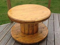 Table tambour de câble par BlackfriarsAntiques sur Etsy