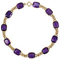 antique gold and amethyst