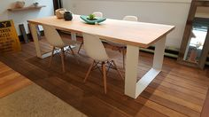 Grange Victorian Ash Timber Dining Table 2.4m