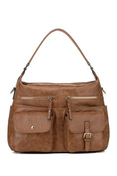 f6f4a624aa69 Look at this Brown Mazzini Distressed Leather Shoulder Bag