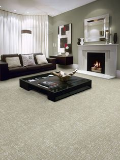 12 Ways To Incorporate Carpet In A Room S Design Contemporary Is Sometimes Considered Cold But Not This Case Legless Furniture Throughout