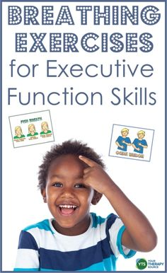 How to use breathing exercises for executive function skills to build basic self-regulation skills, de-stress, recharge, and reset to an optimal mind-body state. Therapy Activities, Learning Activities, Physical Development, Child Development, Pediatric Occupational Therapy, Vision Therapy, Sensory Issues, Executive Functioning, Self Regulation
