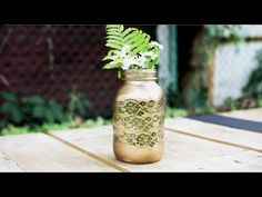 How To Make Lace Mason Jars