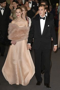 Beatrice Borromeo e Pierre Casiraghi entrambi in Armani Privé al Ballo della Rosa 2014.