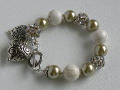 Crystal Beads Handmade Beaded Bracelet by bdzzledbeadedjewelry, $25.00