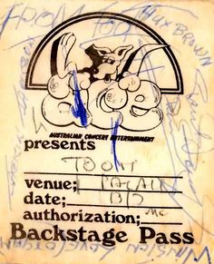 backstage pass when we toured with the legendary toots and the maytels