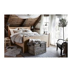 ikea hurdal bed frame made of solid wood which is a hardwearing and warm natural material