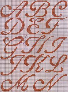 Cross Stitch Alphabet Patterns, Cross Stitch Embroidery, Black Canvas Paintings, Christmas Alphabet, Monogram Letters, Lettering Design, Needlepoint, Lucca, Monograms