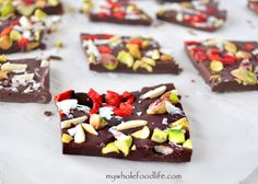 Superfood Chocolate Bark. This festive bark is loaded with superfoods. The holiday treat you can feel good about eating!