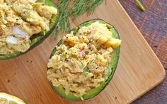 <p>This chickpea salad uses the flavors of a classic potato salad (like dill, celery, and onions) but instead of mayo, the recipe employs the texture deliciousness of avocados to give the dish a creamy texture. The only way to improve on an already stellar chickpea salad would be . . . To make the bowl and avocado, which we did. </p>