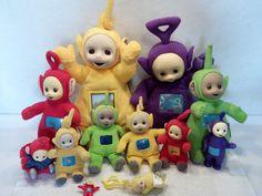 Large lot of Teletubbies plush toys dolls Po La Dipsy B