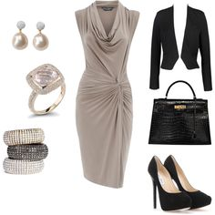 Outfit #7, created by #katmariebay on #polyvore. Going to work and getting a drink afterwards... ;)