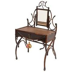 Fine 19th Century Bamboo Vanity -- Estate of Lilly Pulitzer