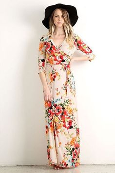 """This maxi dress is so pretty and so perfect for spring. It's pretty enough to get it Hemmed since I'm sure a maxi dress would be too long on my 5'2"""" frame."""