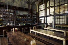 4 of San Francisco's Most Stylish Bars: Smokestack at Magnolia Brewery Pub Interior, Cafe Interior Design, Cafe Design, Cafe Restaurant, Restaurant Design, Industrial Restaurant, Restaurant Ideas, San Francisco Bars, Unique Cafe