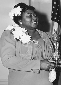 "vintagegal: ""On February Hattie McDaniel earned the Academy Award for best supporting actress becoming the first African American to win an Oscar for her role as Mammy in Gone With the. Hollywood Walk Of Fame, Golden Age Of Hollywood, Vintage Hollywood, Classic Hollywood, Hollywood Stars, Black Actresses, Actors & Actresses, Oscars, Oscar Photo"