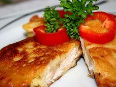 Chicken cutlets in potato batter svetvomne. Chicken Schnitzel, Chicken Cutlets, Chicken Milk, Batter Recipe, Meat Recipes, Roast, Potatoes, Dishes, Breakfast
