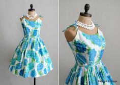 early 1960s garden party sundress