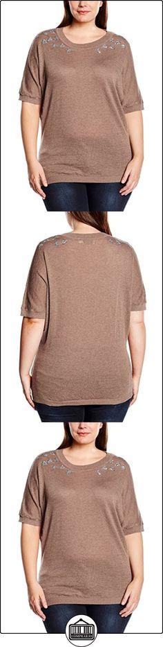 zizzi Y98874A-Blusa Mujer    Braun (Burro 1624) 50  ✿ Blusas y camisas ✿