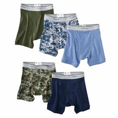 Fruit Of The Loom® Boys 5-pack Prints and Solids Boxer Briefs - Multicolor
