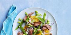 Steak and Snow Pea Salad with Oranges and Edamamewomansday Heart Healthy Recipes, Healthy Dinner Recipes, Healthy Meals, Healthy Tips, Healthy Cooking, Healthy Eating, Pea Salad, Edamame Salad, Edamame Recipe