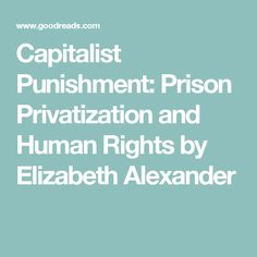Capitalist Punishment: Prison Privatization and Human Rights by Elizabeth Alexander