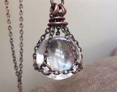 Kristall Halskette Anhänger Ball Halskette Quarz Kugel