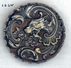 Wood backed Brass Dragon.
