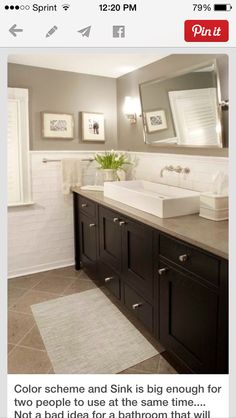 Guest bath vanity and floor tile.