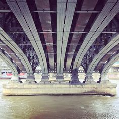 Under the bridge   #bridge #lifestyle #water #river #l4l #lyon #town #urban #life #igers #photooftheday #love#my#city #instamood #architecture #archidaily #cities #town #geometric