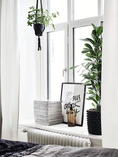 deep window ledge - perfect for plants and things you love