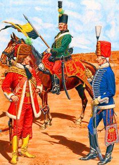 Austrian frontier Grenz Hussars and Szeckler Hussars